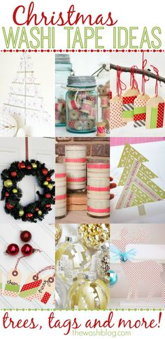 Christmas Washi Tape Ideas - perfect last-minute crafts and decor! Make with your #pickyourplum washi supply!