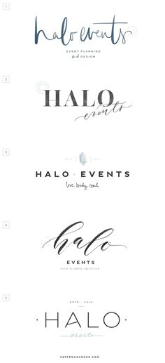 Halo Events :: Logo Design, Brand Board, Website Design - Saffron Avenue : Saffron Avenue