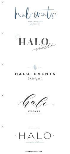 Halo Events :: Logo Design, Brand Board, Website Design - Saffron Avenue : Saffron Avenue