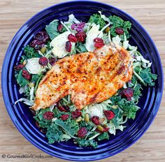 Gourmet Girl Cooks: Main Dish Salad Topped w/ Grilled Chipotle Chicken - Quick & Easy
