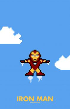 Ironman [8 bits movie poster]