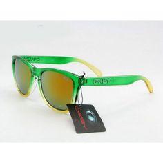 df354191f0  12.99 Cheap Oakley Frogskins Sunglasses Green Yellow Frame Pink Orange  Iridium Store Deal www.racal.org