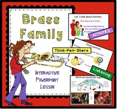 Guide your elementary music students through this interactive PowerPoint lesson to learn about the Brass Instrument Family. FOREVER FREE!!! This is a showcase product to introduce you to my style and teaching methods/philosophy. This is a Powerpoint activity to introduce elementary students to the brass instrument family.