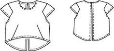 Cap Sleeve Cropped Top 02/2015 #127 – Sewing Patterns   BurdaStyle.com