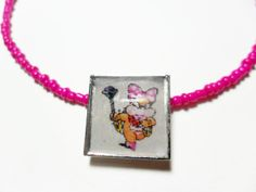 Mario Video game necklace with Wendy Koopa by ReturnersHideout, $12.50