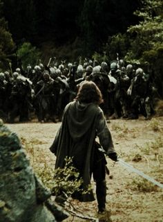 Men of Numenor were of greater strength than ordinary men and lived thrice their lifespan. Aragorn vs orcs.