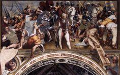 Cristo inchiodato alla croce, affreschi di Giovanni Antonio De Sacchis