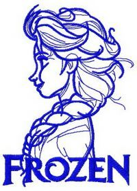 Elsa sketch 7 machine embroidery design. Machine embroidery design. www.embroideres.com