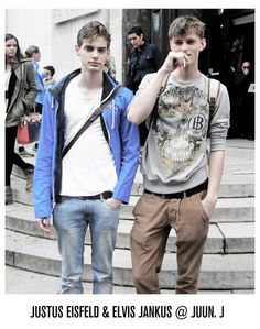 Justus Eisfeld, Elvis Jankus / Juun J SS14 men's street style