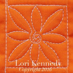 The Square Daisy-A Machine Quilting Tutorial - Lori Kennedy Quilts Machine Quilting Tutorial, Machine Quilting Patterns, Quilting Templates, Quilt Patterns Free, Quilting Projects, Machine Embroidery, Quilting Ideas, Stitch Patterns, Sewing Projects