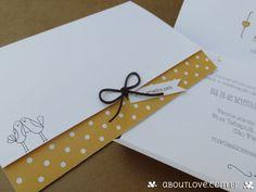 Convite de casamento formato carteira alegre e muito romântico - AboutLove