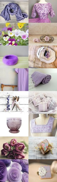 ♥ Spring Pastels ~ Violet Tulip ♥ by Amy on Etsy--Pinned with TreasuryPin.com