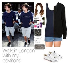 """""""Walk with Louis"""" by myllenna-malik ❤ liked on Polyvore featuring Forever 21, Pieces, ONLY, Converse, Nails Inc., Topshop, Laura Mercier, Monica Vinader, Tarxia and OneDirection"""