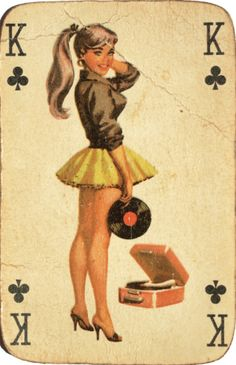 Classy pin-up on the King of Clubs. Class is something few women have these days. so true.