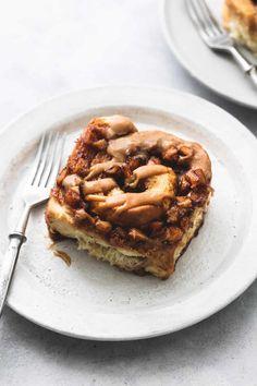 Apple Pie Cinnamon Rolls | Creme De La Crumb Apple Recipes, Fall Recipes, Baking Recipes, Delicious Recipes, Brunch Recipes, Dessert Recipes, Brunch Ideas, Brunch Foods, Breakfast Recipes