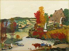 Grandma Moses, When Leaves Turn © Grandma Moses Properties Co., New York