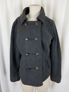 Baby Gap Navy Nautical Double Breasted Hooded Button Cardigan Sweater Jacket NWT