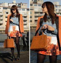 Painting skirt (by Iris .) http://lookbook.nu/look/4189786-Painting-skirt