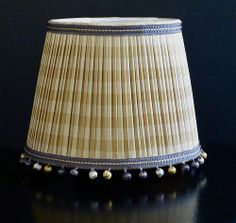 Pleated silk lampshade @Wendy Werley-Williams.lampshadesetc.com