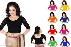 Checkout this latest Blouses Product Name: *Ethnic Cotton Lycra Hosiery Blouse* Fabric: Cotton Lycra  Size: Up To 28 in To 36 in ( Free Size ) Type: Stitched Description: It Has 1 Piece Of Blouse  Pattern: Solid Country of Origin: India Easy Returns Available In Case Of Any Issue   Catalog Rating: ★4.2 (2059)  Catalog Name: Feminine Ethnic Cotton Lycra Hosiery Readymade Blouse Vol 1 CatalogID_202462 C74-SC1007 Code: 432-1557237-114