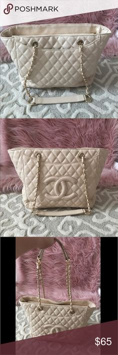 🔥SALE!!🔥 Cream Handbag Cream handbag. purchased here on poshmark. used twice. wasn't planning on selling it but i have too many bags and need to downsize my collection. Very roomy has a spot to keep all your things organized. Ships same day/next day! Thank you Bags Shoulder Bags