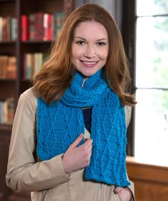 Cable Warm Wishes Scarf Free Crochet Pattern from Red Heart Yarns