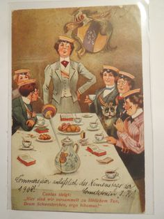 Damenkneipe Cantus Commers 1908 Studentinnen IN Couleur Studentika | eBay