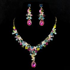 New 2015 High quality Fashion Choker statement necklace Gold Plated chain necklaces & pendants crystal Accessories for women