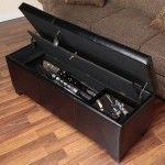 Secret Firearm Compartment Safe in Bench