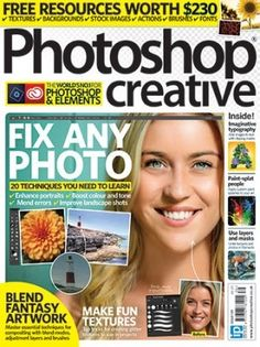 Save on Photoshop Creative magazine subscriptions at Imagine Subs - the official subscription site for Photoshop Creative and Imagine Publishing Advanced Photoshop, Photoshop Tips, Photoshop Elements, Photoshop Tutorial, Creative Photoshop, Photo Blend, Lighten Skin Tone, Photo Elements, Surreal Artwork