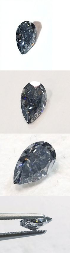 Women Jewelry: Gia Certifed Natural Loose Diamond Pear Cut Fancy Gray Blue Color 0.43 Ct Vs2 -> BUY IT NOW ONLY: $16000 on eBay!