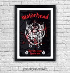 "Poster Motorhead ""Born To Loose, Live to Win"""
