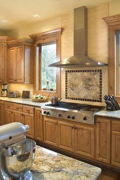 Halstad Craftsman Ranch House Plan - 5902 Like the range hood between the windows (option other than sink on window wall)
