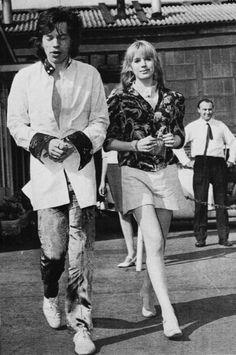 Mick Jagger & Marianne Faithfull, 1967.