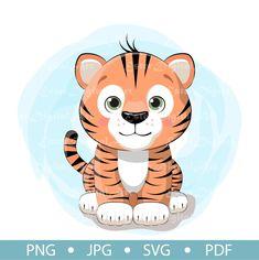 Cute Baby Elephant, Tiger, Sell On Etsy, Asian Art, Digital Image, Printable Wall Art, Cute Babies, Digital Prints, Cute Animals