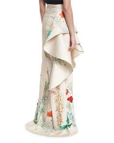db5f6cbc78e B3JCS Johanna Ortiz Cicilia Floral Ruffled Skirt
