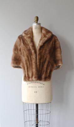 Mink Fur stole vintage 50s mink stole 1950s fur by DearGolden