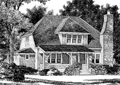 Looking for the best house plans? Check out the Montford Cottage plan from Southern Living. Southern Living House Plans, Cottage Style House Plans, French Country House Plans, Vintage House Plans, Cottage Plan, Cottage House, Vintage Homes, Country French, Small House Floor Plans