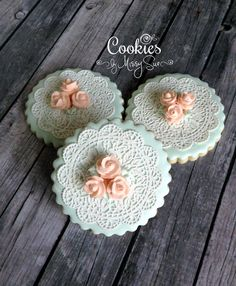 Lace & Roses   Cookies by Missy Sue   Cookie Connection