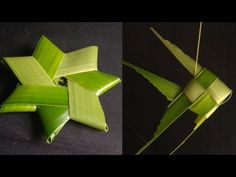 How to make coconut leaf star and fish easy diy crafts, simple life hacks Knidge Full HD Upcycled Crafts, Easy Diy Crafts, Flax Weaving, Basket Weaving, Palm Frond Art, Origami Fish, Diy Origami, Flax Flowers, Coconut Leaves