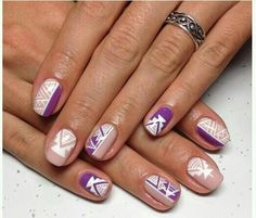Purple tribal nails