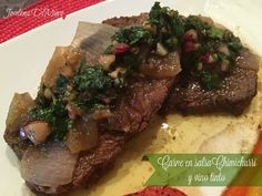 Mamás Latinas en USA // Cocinar,comer y compartir: Carne en salsa Chimichurri y vino tinto