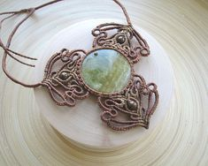 Chalcedony macrame necklace delicate necklace boho necklace