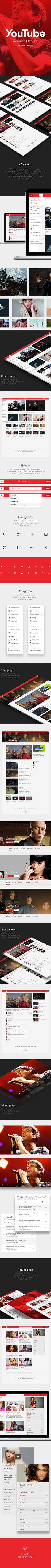 YouTube Redesign Concept on Behance