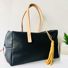 Items similar to Black nappa leather bag / purse with zip and veg leather straps / UNLINED on Etsy Leather Bags, Leather Handbags, Stitching Leather, Bucket Bag, Purses And Bags, Tote Bag, Zip, Accessories, Black