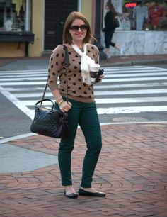 A LA MODE ET PLUS: Old Navy polka dot sweater with snakeprint jeans
