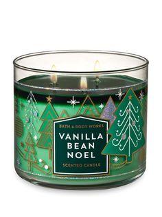 Vanilla Bean Noel Candle - Bath And Body Works - Christmas Wishlist 2018 - Perfume Bath Candles, 3 Wick Candles, Scented Candles, Vanilla Candles, Bath & Body Works, Bath And Body Works Perfume, Christmas Scents, Christmas Candles, Bath Bomb Packaging