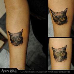 Gatito Negro para Evelyn. Gracias por el ratito tan agradable ;) #cat #black #stars #animal #tattoo #catlover