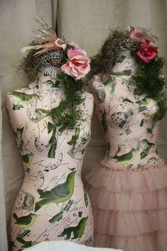 Bird dress forms