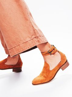 Lenox Flat   So sweet suede flat featuring adjustable straps around the ankle. Exposed zipper closure at the heel for an easy on-off. Subtle chunky block heel.